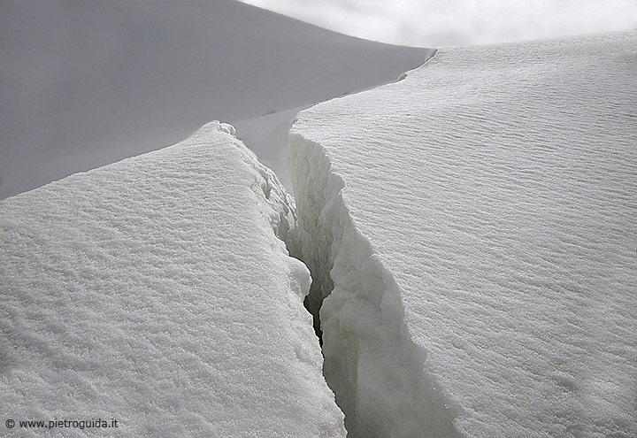 La faglia sul monte Velino a quota 2.400