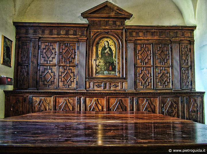 Tagliacozzo, sagrestia del '600 nella chiesa di San Francesco